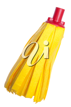 Royalty Free Photo of a Yellow Fiber Mop