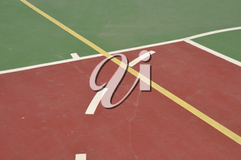 Royalty Free Photo of a Basketball Court