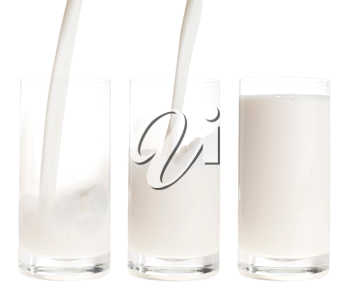 Royalty Free Photo of Fresh Milk Being Poured