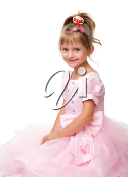 Royalty Free Photo of a Little Girl in a Pink Dress