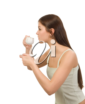 Royalty Free Photo of a Young Woman With Coffee
