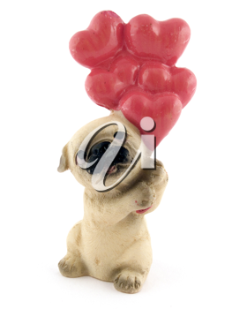 Royalty Free Photo of a Toy Dog With Balloons