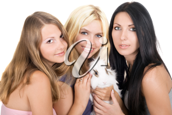 Royalty Free Photo of Three Women With a Rabbit