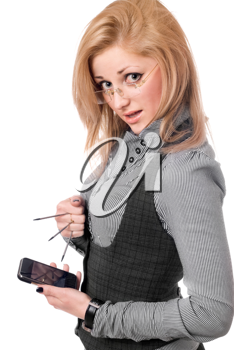 Royalty Free Photo of a Woman With a Cellphone