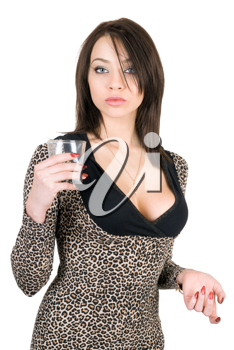 Royalty Free Photo of a Girl With a Glass