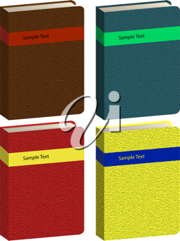 Royalty Free Clipart Image of a Set of Books