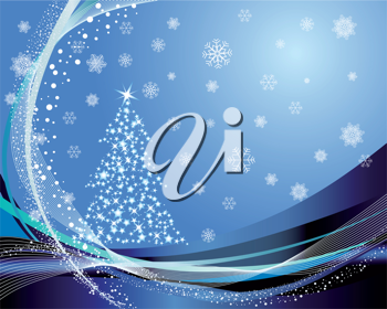 Royalty Free Clipart Image of a Winter Background