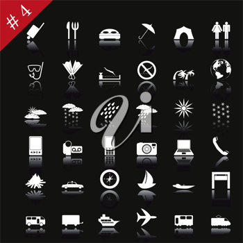 Royalty Free Clipart Image of Web Icons