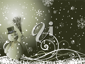 Beautiful vector Christmas (New Year) background for design use
