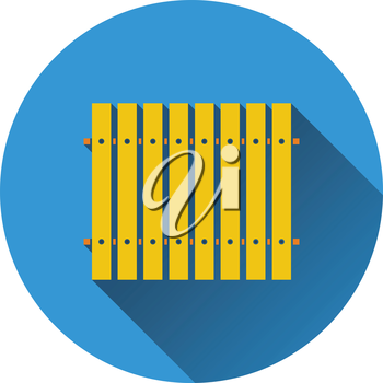 Icon of Construction fence . Flat design. Vector illustration.