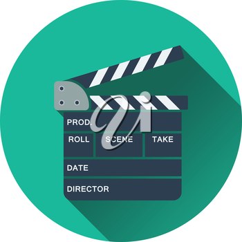Clapperboard icon. Flat design. Vector illustration.