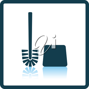 Toilet brush icon. Shadow reflection design. Vector illustration.