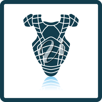 Baseball chest protector icon. Shadow reflection design. Vector illustration.