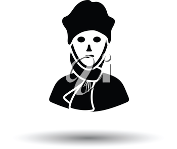 Poet icon. White background with shadow design. Vector illustration.