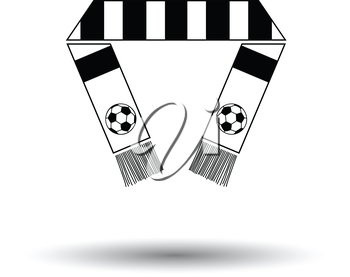 Football fans scarf icon. White background with shadow design. Vector illustration.