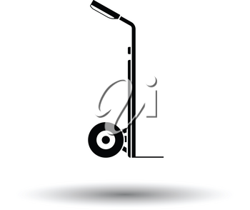 Warehouse trolley icon. White background with shadow design. Vector illustration.