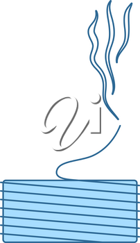 Solder Wire Icon. Thin Line With Blue Fill Design. Vector Illustration.