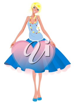 Royalty Free Photo of a Woman in a Fancy Dress Holding a Heart