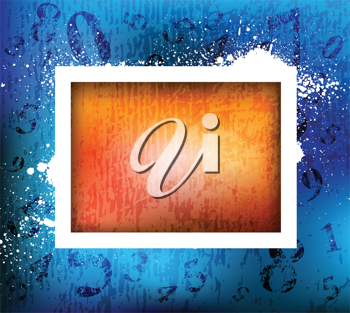 Royalty Free Clipart Image of an Abstract Frame