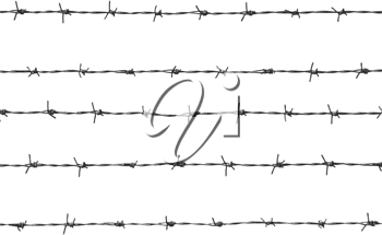 Royalty Free Clipart Image of  Barbed Wire