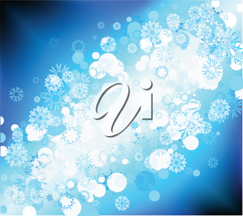 Royalty Free Clipart Image of an Abstract Snowflake Background