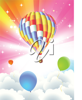 Royalty Free Clipart Image of Hot Air Balloon
