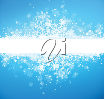 Royalty Free Clipart Image of a Christmas Banner