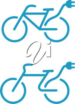 Royalty Free Clipart Image of an Electric Bicycle Icon