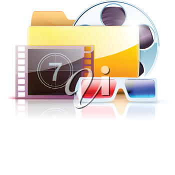 Royalty Free Clipart Image of Film Icons