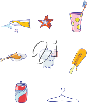 Royalty Free Clipart Image of Hand Drawn Elements