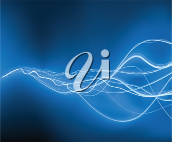 Royalty Free Clipart Image of a Blue Background