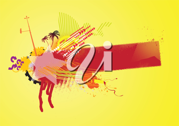 Royalty Free Clipart Image of an Urban Style Banner