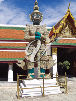 Royalty Free Photo of the Statue of Guardian in Grand Palace in Bangkok, Thailand