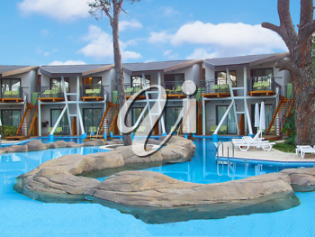 Royalty Free Photo of a Hotel Swimming Pool
