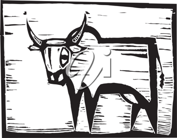 Royalty Free Clipart Image of a Wildebeest