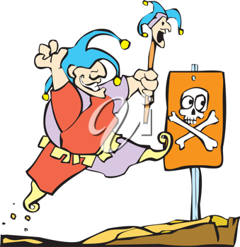 Royalty Free Clipart Image of a Fool