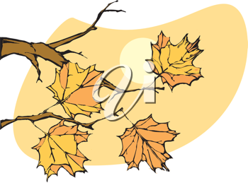 Royalty Free Clipart Image of a Tree Branch