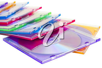 Royalty Free Photo of a Stack of Compact Discs