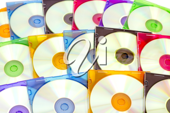 Royalty Free Photo of a Pile of Compact Discs
