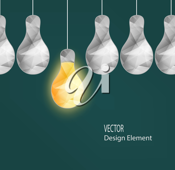 Abstract Crystal Electrical Bulbs Concept Idea