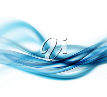 Abstract Modern Blue Waved Background