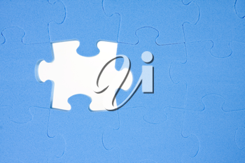 Royalty Free Photo of a Blue Puzzle