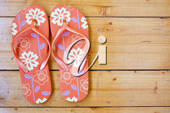 Royalty Free Photo of a Pair of Flip Flops
