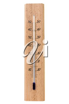 Royalty Free Photo of a Wooden Thermometer