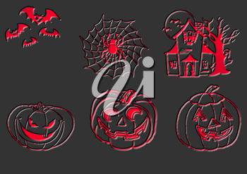 Royalty Free Clipart Image of Halloween Images