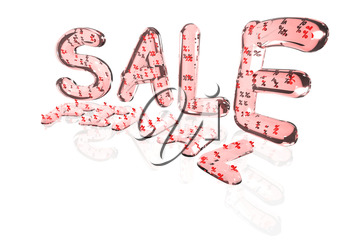 Word Final Sale made from many percentage symbols.