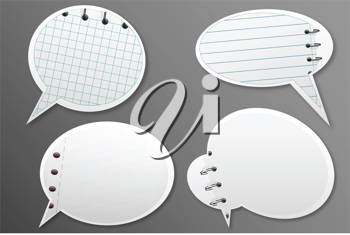 Royalty Free Clipart Image of Notes