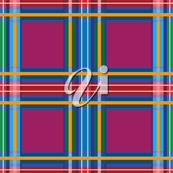 Royalty Free Clipart Image of a Tartan Background