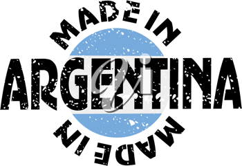 Royalty Free Clipart Image of a Label Made in Argentina