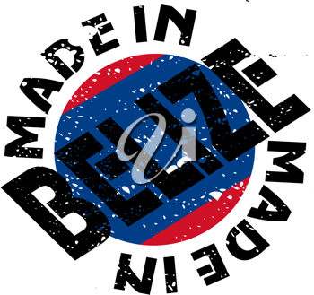 Royalty Free Clipart Image of a Label for Made in Belize